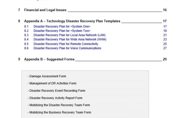 disaster recovery plan, disaster recovery, it disaster recovery, disaster recovery vorlage